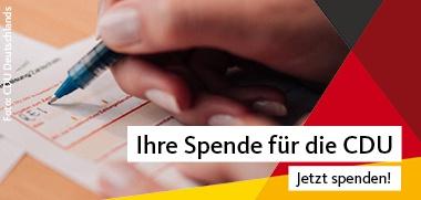 Spende für die CDU, Foto: CDU Deutschlands