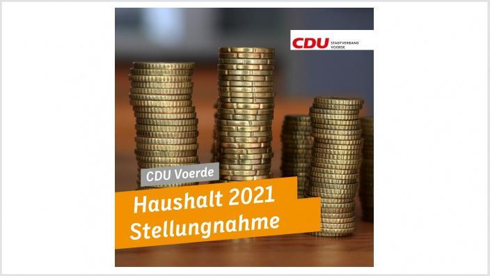 Haushalt 2021 - Stellungnahme der CDU-Fraktion